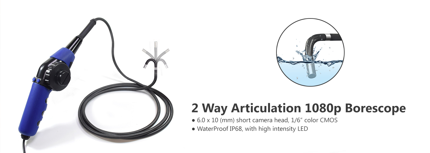 4 Way Articulation 1080p Borescope