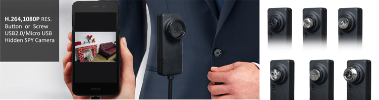 1080P, SPY CAMERA,  H.264 SPY Button & Screw Camera,WATERPROOF